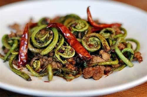 Как приготовить папоротник с мясом