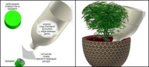 Автополив комнатных растений - капельное орошение