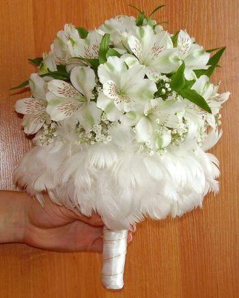 Свадебный букет альстромерия